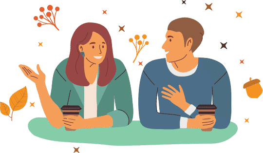 Illustration - Chatting with Coffee