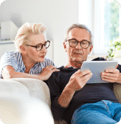 Retired Couple on Laptop